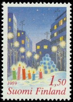 Joulupostimerkki 1989 1/2 - Joulu kaupungissa