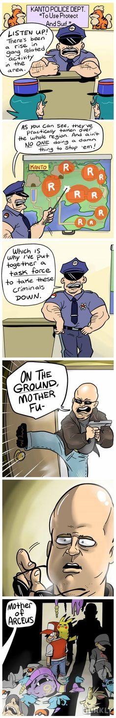 """""""If the Pokemon Police Finally Did Something About Gangs"""" #dorkly #geek #pokemon"""