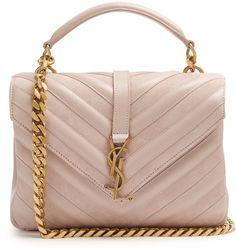SAINT LAURENT Collège medium leather and suede shoulder bag #ad