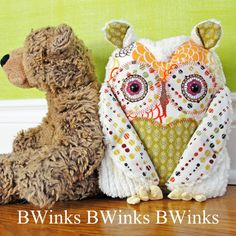 Stuffed Owl Pillow Owl stuffed friend  CE Collection by BWinks, $38.00