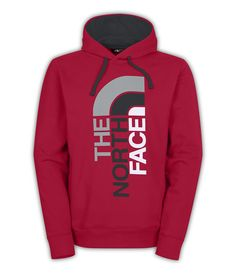 The North Face Trivert Pullover Hoodie for Men in Red and Grey