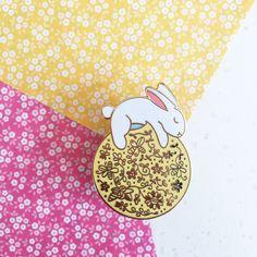 Sun Rabbit - Hard enamel Pin by Milomoomii on Etsy