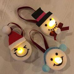 ダイソーなどの百均で手に入る、LEDキャンドルライト。 これを使って二種類の、クリスマス飾りを作りました(#^…