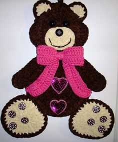 Crochet teddy bear, by Jerre Lollman