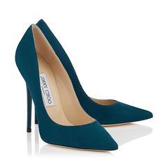 Escarpins à bout pointu en daim doux bleu océan|Anouk| Pré-Collection Automne-Hiver 2015 | JIMMY CHOO Chaussures