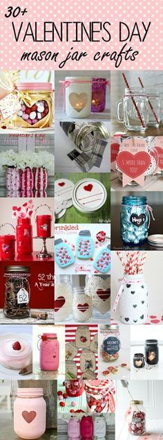 Still looking for ways to celebrate Valentine's Day this year? Well, you've come to the right place. I've collected 30+ fabulous way to share the love. With mason jars, of course! Jar of Hearts at Polka Dot Chair Glitter Heart Votives at Mason Jar Crafts Love Doilies & Heart Jars at Crescendoh Painted & Distressed …