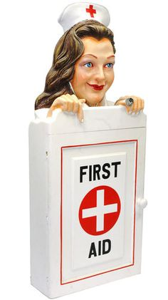 Nurse WALL CABINET/FIRST AID Box CUPBOARD & SHELVES $500