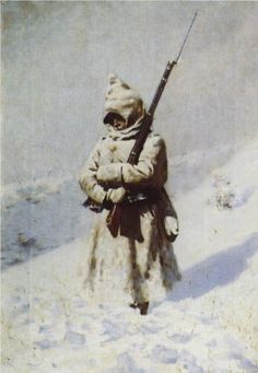 Soldiers in the snow - Vasily Vereshchagin