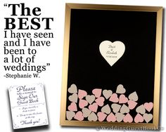 Wedding Guest Book Drop Box Alternative Heart Frame Drop In