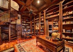 1000 Images About Personal Study Library Man Room On