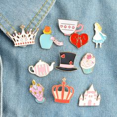 1 Pcs Fairy Tale Princess Dress Metal Brooch Button Pins Denim Jacket Pin Jewelry Decoration Badge For Clothes Lapel Pins Be Friendly In Use Badges Arts,crafts & Sewing