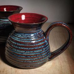 Just pulled this commission set out of the kiln. I could not be happier! #artisanpottery #bohoart #bohodecor #clay #ceramics #createexplore #decor #design #eclectic #earthycup #enchanting #eclecticart #eclecticpottery #functionalart #happyhour #happyartist #homeinthestudio #mugshot #coffeetime #coffeeholic #coffeelover #commutermug #coffeeaddict