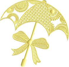 Sunny Umbrella free embroidery design #EmbroideryDesignsFree