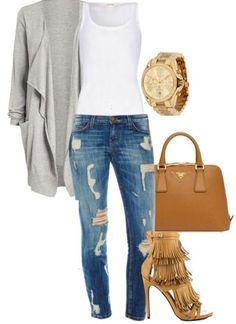 Love the jean/sweater combo