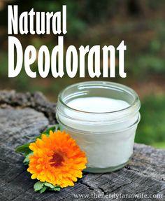Homemade Natural Deodorant Recipe