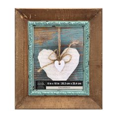 <div>This rustic wood frame with its distressed iron fillet is perfect for displaying an antique...