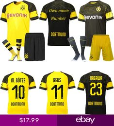 563cfc21f1a 18-19 Football Outfits Soccer Boys Clothing Short Sleeve 3-14 Kids Kits +Socks