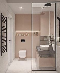 38 Modern Bathroom Decor and Design Ideas For More Attractive Home ~ Ideas for House Renovations Bathroom Design Small, Bathroom Interior Design, Interior Decorating, Bathroom Designs, Decorating Bathrooms, Bad Inspiration, Bathroom Inspiration, Bathroom Ideas, Bathroom Vanities