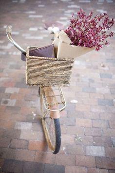 Bike with basket & flowers
