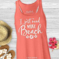 Need More Beach Ladies Lake Tank Top