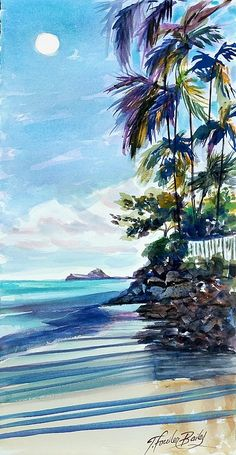My Lanikai beach End.  Copyright reserved Therese Fowler-Bailey