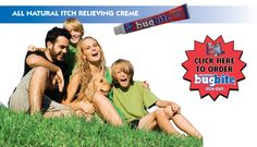 Bug Bite Itch Out the all natural itch relieving creme. Check out our website: www.bugbite.co
