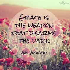 GRACE Is The Weapon That Disarms The Dark - Ann Voskamp - Click the link to see the newly released collections for amazing beach bikinis! Inspirational Blogs, Bible Encouragement, Amazing Grace, Divine Grace, God's Grace, Saved By Grace, Walk By Faith, Christian Quotes, Christian Women
