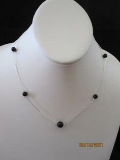 Black Swarovski Pearl Simply Elegant necklace by katherineajones, $8.00
