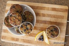 Wholefood Simply - Paleo Lemon and Blueberry Muffins