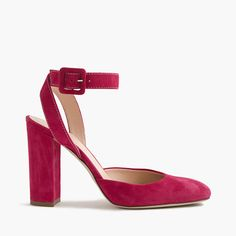 Lena ankle-wrap pumps in suede