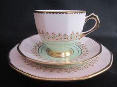 STUNNING TUSCAN/PLANT ART DECO CHINA TEA SET TRIO - HANDPAINTED | eBay