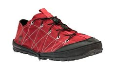 Timberland trail shoes fold up and zip closed for stowage