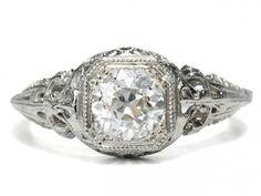 Vintage Wedding Rings | Vintage Engagement Rings – Georgian Jewelry – Art Deco Solitare ...