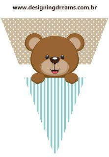 Teddy Bear for Boys: Free Printable Mini Kit. - Oh My Baby! Imprimibles Baby Shower, Baby Shower Invitaciones, Teddy Bear Baby Shower, Baby Shower Niño, Bear Theme, Baby Shawer, Bear Party, Baby Shower Decorations, Diy And Crafts