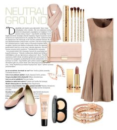 """Neutral"" by nellycrowe on Polyvore featuring Balmain, Halston Heritage, Henri Bendel, Guerlain, Bobbi Brown Cosmetics, Free People, Furla, Sephora Collection, Yves Saint Laurent and Anita Ko"