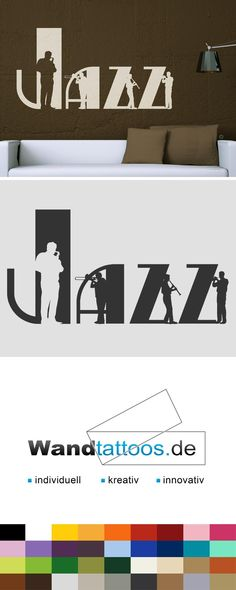 Wandtattoo Jazz Als Idee Zur Individuellen Wandgestaltung. Einfach  Lieblingsfarbe Und Größe Auswählen. Weitere Kreative
