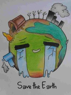 Save our mother earth drawing Nature Drawing For Kids, Art Drawings For Kids, Pencil Art Drawings, Art Sketches, Mother Earth Drawing, Save Earth Drawing, Save Environment Poster Drawing, Save Water Poster Drawing, Poster On Save Water