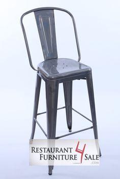 modern industrial simon metal restaurant bar stool w reclaimed wood