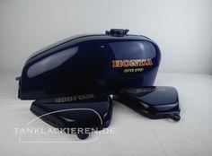 Honda cb 400 four varnish blue Honda Bikes, Honda Cb, Colour Shades, Super Sport, Helmets, Motorcycle, Sports, Blue, Motorbikes