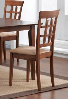 """Dining Chair with Wheat Back Design (Set of 2) in Walnut - Coaster by Coaster Home Furnishings. $117.96. Walnut Counter Height Stools. Wheat Back Design. 24"""" Seat Height. Upholstered Seat. Set of 2 Chairs. Dimension: 18""""L x 22""""W x 39""""H Finish: Walnut Material: Hardwood Set of 2 Contemporary Dining Chairs. Constructed of solid hardwoods and wood veneer. Chair features Wheat Back Matching Dining Table (#101771) available separately. Assembly required.. Save 44% Off!"""