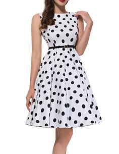 Women Vintage 1950's Sleeveless Cotton Swing Rockabilly Cocktail Dress (XL, Floral 9) at Amazon Women's Clothing store: