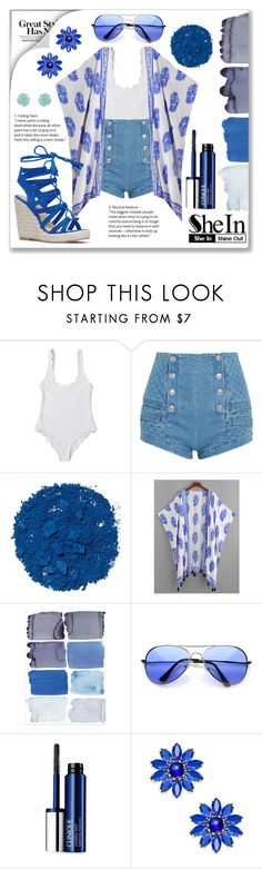 """""""Blue Woman Group"""" by grizmosis ❤ liked on Polyvore featuring Pierre Balmain, Illamasqua, Clinique, Kate Spade and Accessorize"""