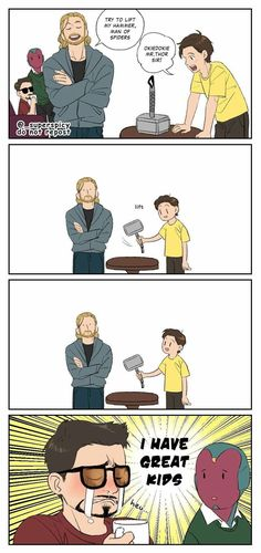 Friend sent me this, unsure who made it originally. Friend sent me this, unsure who made it originally.,Avengers Friend sent me this, unsure who made it originally. Related posts:The Marvel Cinematic Universe explainedMarvel's Avengers Humor, Marvel Jokes, Funny Marvel Memes, Funny Comics, Marvel Dc Comics, Marvel Heroes, Marvel Avengers, Marvel Art, Captain Marvel
