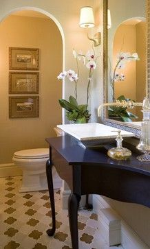 Powder room designed by Petrella Designs, Inc. - eclectic - Powder Room - Detroit - Petrella Designs, Inc.