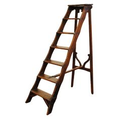 1stdibs | An Italian Early 18th Century Pinewood Folding Library Ladder