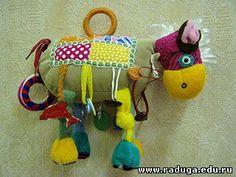 Toy for baby - free Pattern - Как сшить развивающую игрушку лошадку. Игрушки развивалки / Мастер-класс