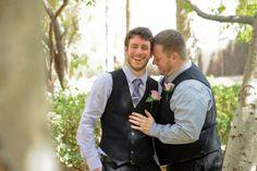 Grooms at their Las Vegas wedding at Mandalay Bay | LGBTQ wedding inspiration
