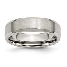Chisel Beveled Edge Brushed Ring (6.0 mm), Men's