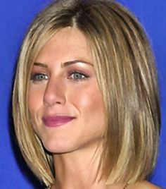 Jennifer Aniston's new bob hair style. This is bob hair style is shorter in the back which is also known as an invested bob - Bob Hairstyles 2012 - Bob Hair Styles