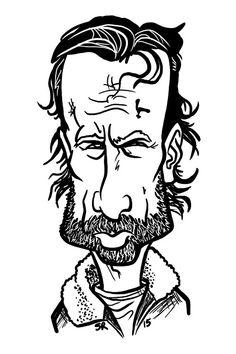 Rick Grimes, Steve Rampton on ArtStation at https://www.artstation.com/artwork/rzXqe